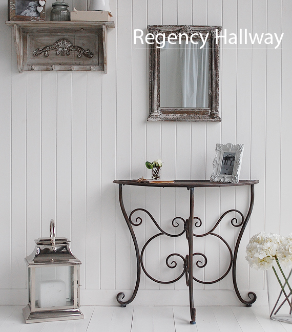 Hall furniture hallway decorating idea regency range for Hallway furniture ideas