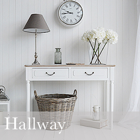 Hall Furniture in white and grey