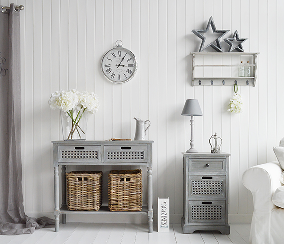 British Colonial Furniture For Living Room In Grey