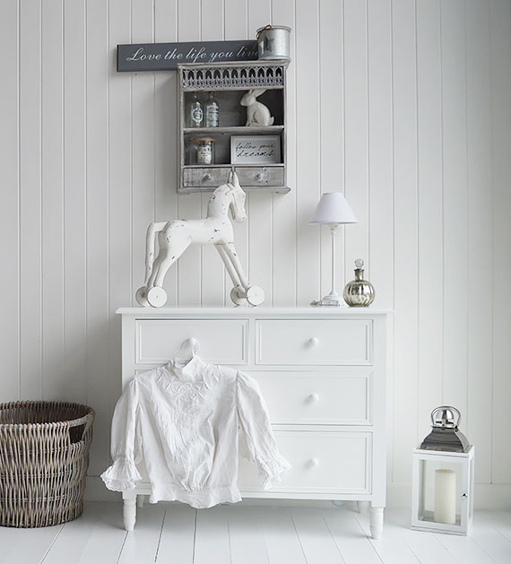 White Bedroom furniture cottage, New England, and country style homes