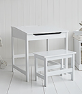 Chilrens desk and chair with storage liftable lid