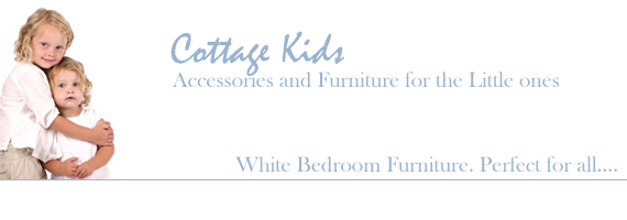 White childrens bedroom furniture and accessories from Cottage Kids by The White Lighthouse