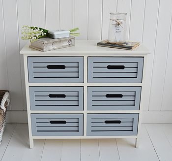 Beach House storage furniture for hall, living room and bathroom interiors