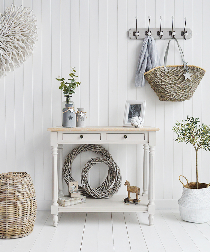 The White Lighthouse Brittany Console Hall table from The White Lighthouse Country, Coastal and New England Hallway furniture