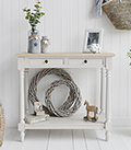 Brittany Grey Large Hallway Console for Hallway furniture in country coastal Scandi and New England homes