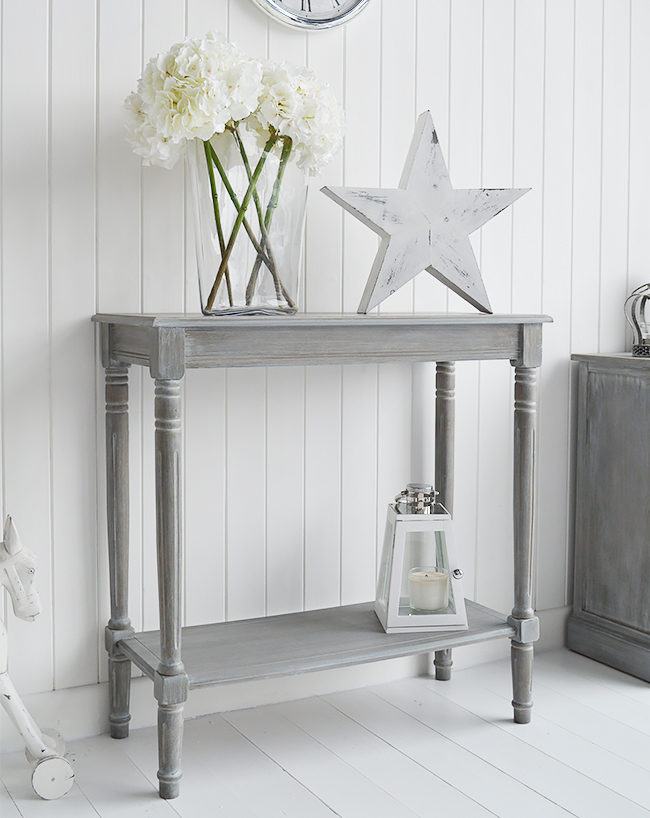 british colonial furniture range in grey console table. Black Bedroom Furniture Sets. Home Design Ideas