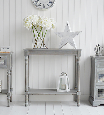 if you have a narrow hall the british colonial grey is a fab idea for