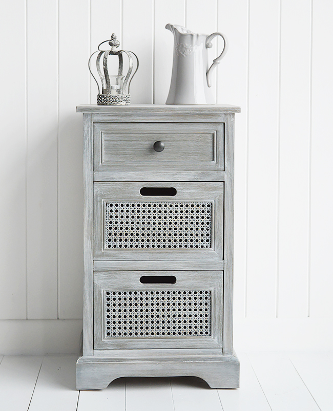 British Colonial Furniture Range In Grey Lamp Table With Drawers From The White Lighthouse L