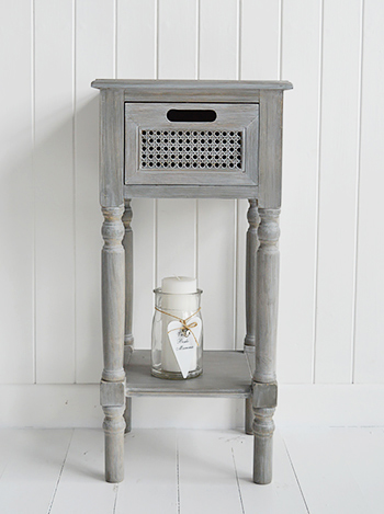 British Colonial Furniture Range In Grey Lamp Table With