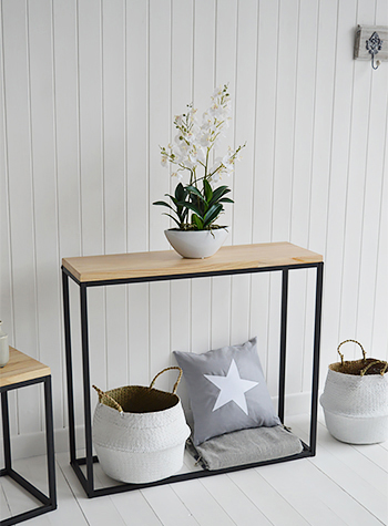The Brooklyn Console Table for small Hallway furniture and living room interiors for Coastal Interiors