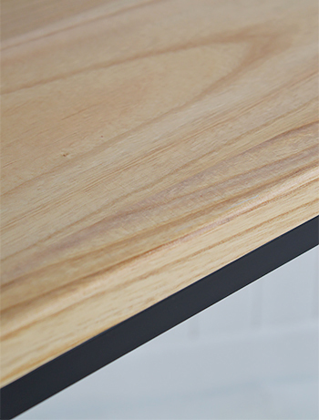 Close up of finish for Brooklyn hall table
