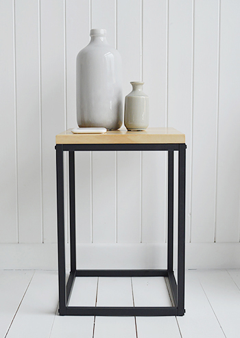 The Brooklyn side lamp table from The White Lighthouse Hallway furniture