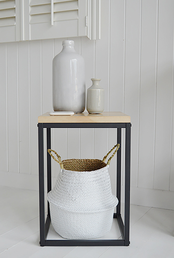 The Brooklyn side lamp table from The White Lighthouse bedroom furniture