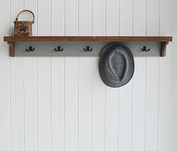 Brunswick Grey coat Rack Hall Furniture