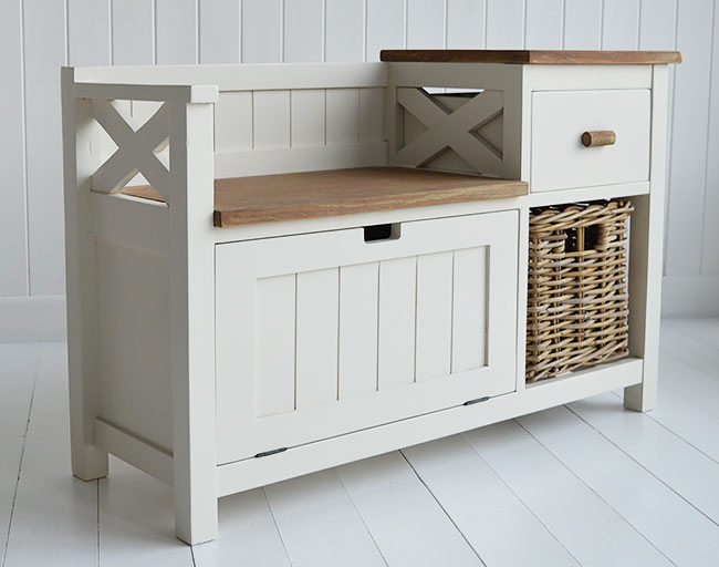 Brunswick Storage Bench And Shoe Storage For Hall Furniture