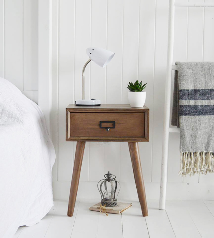 Henley lamp Scandi bedside table from The White Lighthouse Furniture