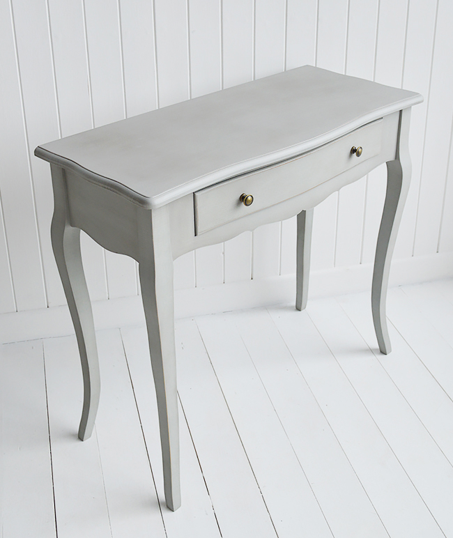 New Hampshire grey table with drawer for hallway furniture