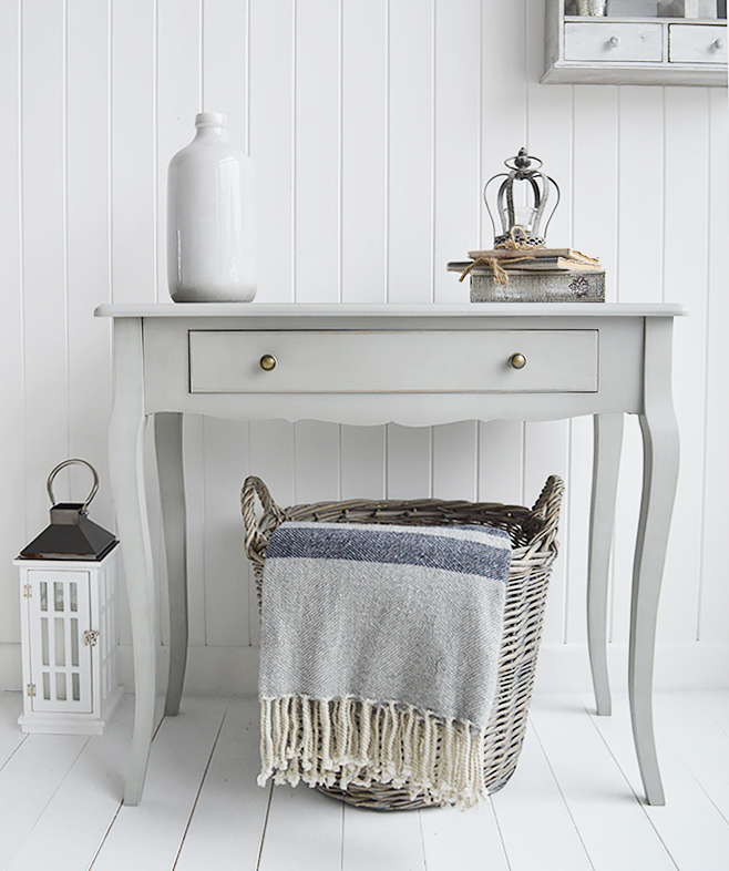 The White Lighthouse hallway furniture, grey hall table with drawer