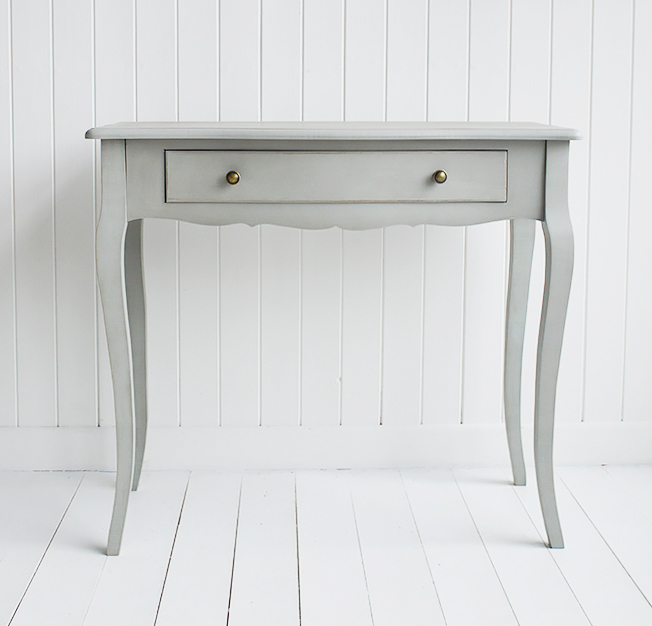 New Hampshire grey table with drawer for living room  furniture
