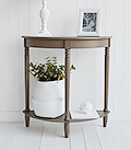 Newport Narrow French Grey Hallway table, at 30 cm deep, is a perfect and affordable option for decorating small entrance way spaces