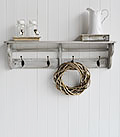 Parisian Grey Wall Shelf and coat rack