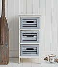 Beach House storage furniture with 3 drawers