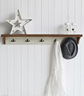 Brunswick 5 double rack coat hook and shelf