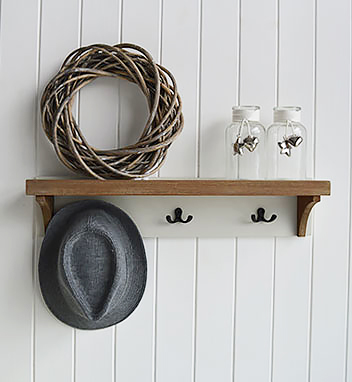 Brunswick coat rack and shelf for hall
