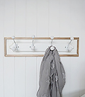 Coat rack for small hallway furniture from The White Lighthouse Hall Furniture in New England Country and Coastal Furniture