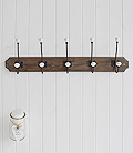 Long coat rack with 5 hooks