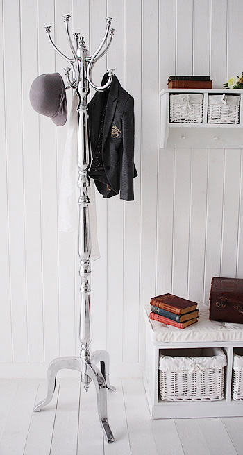 Elegant silver luxurious coat stand