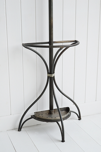 Wall mounted Bentwood metal coat stand  top