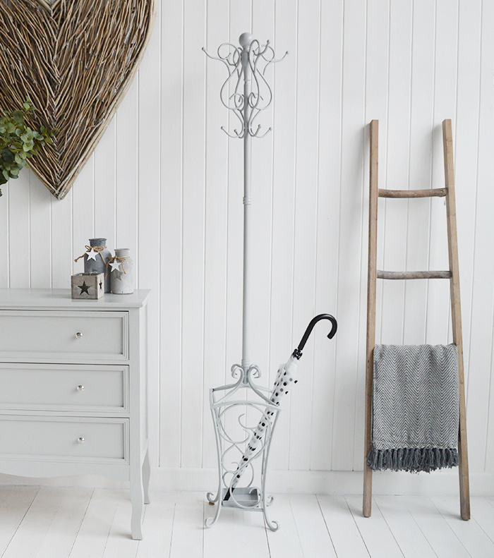 Stamford antique grey coat stand for hallway coat storage hall furniture