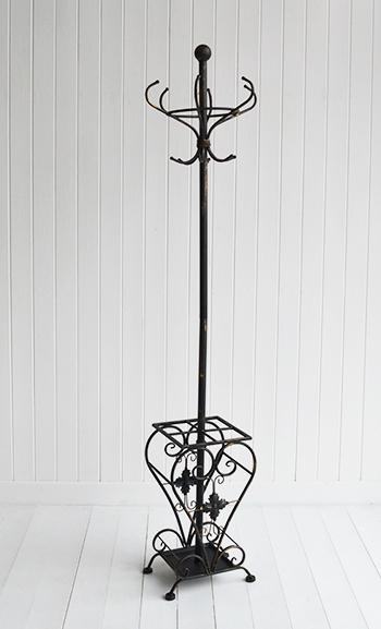 Stamford antique black coat stand and umbrella rack