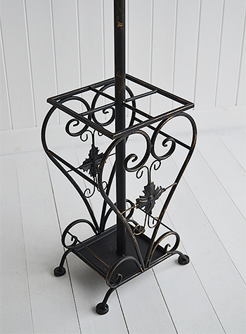 Black Coat stand for hallway furniture