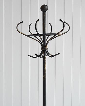 Stamford antique black coat stand