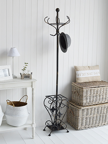 Stamford antique black coat stand