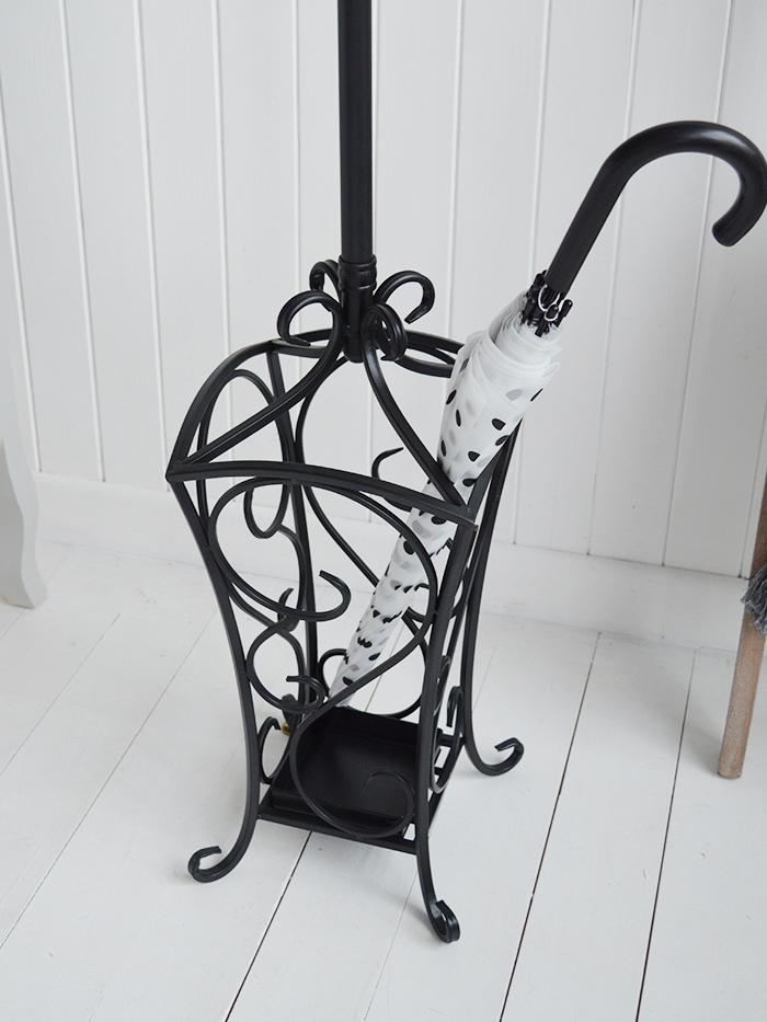Stamford black coat stand for hallway coat storage hall furniture