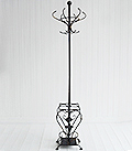 Stamford antique black coat stand and umbrella rack for hall storage solutions