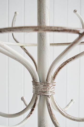 Antique white coat stand