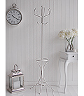 White metal bentwood coat stand