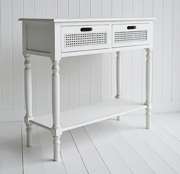 Colonial White Console Table