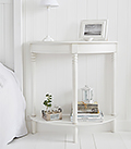 White Bedside table with shelf