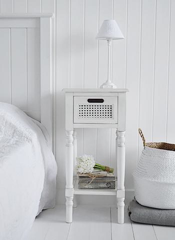 Colonial white furniture lamp table hallway bathroom - White colonial bedroom furniture ...