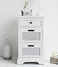Colonial White hall furniture, white lamp table with drawers, perfect storage for small hallway furniture