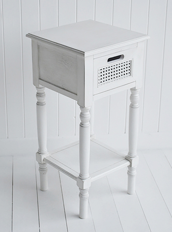 White lamp table - white furniture for bedroom, living room and hallway