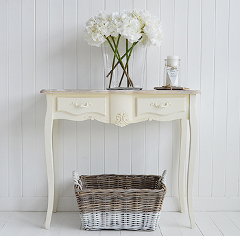 new product 2ff79 c555a Regency cream console table - Hall Furniture from The White ...