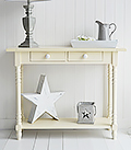 Long Beach Cream Console Table