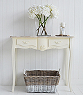 Regency cream console table