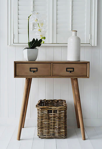 Henley conosle table for scandi hall furniture New England, cottage and coastal homes